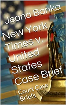 account of the case of new york times vs united states New york v united states et al  the money in an escrow account third, states achieving a series of milestones receive portions of this fund  cases support .