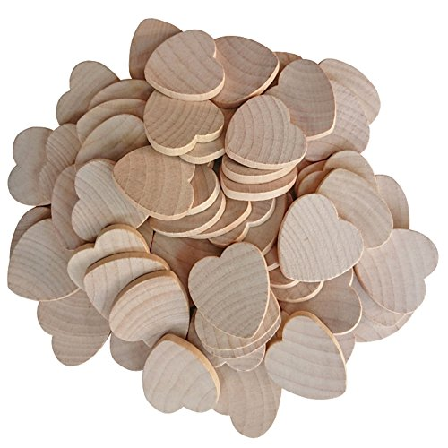 Axe Sickle 1.5 inches (50-pcs / 100-pcs / 200-pcs) Natural wood hearts,These Crafts wooden heart The limitations are endless (50-pcs)!