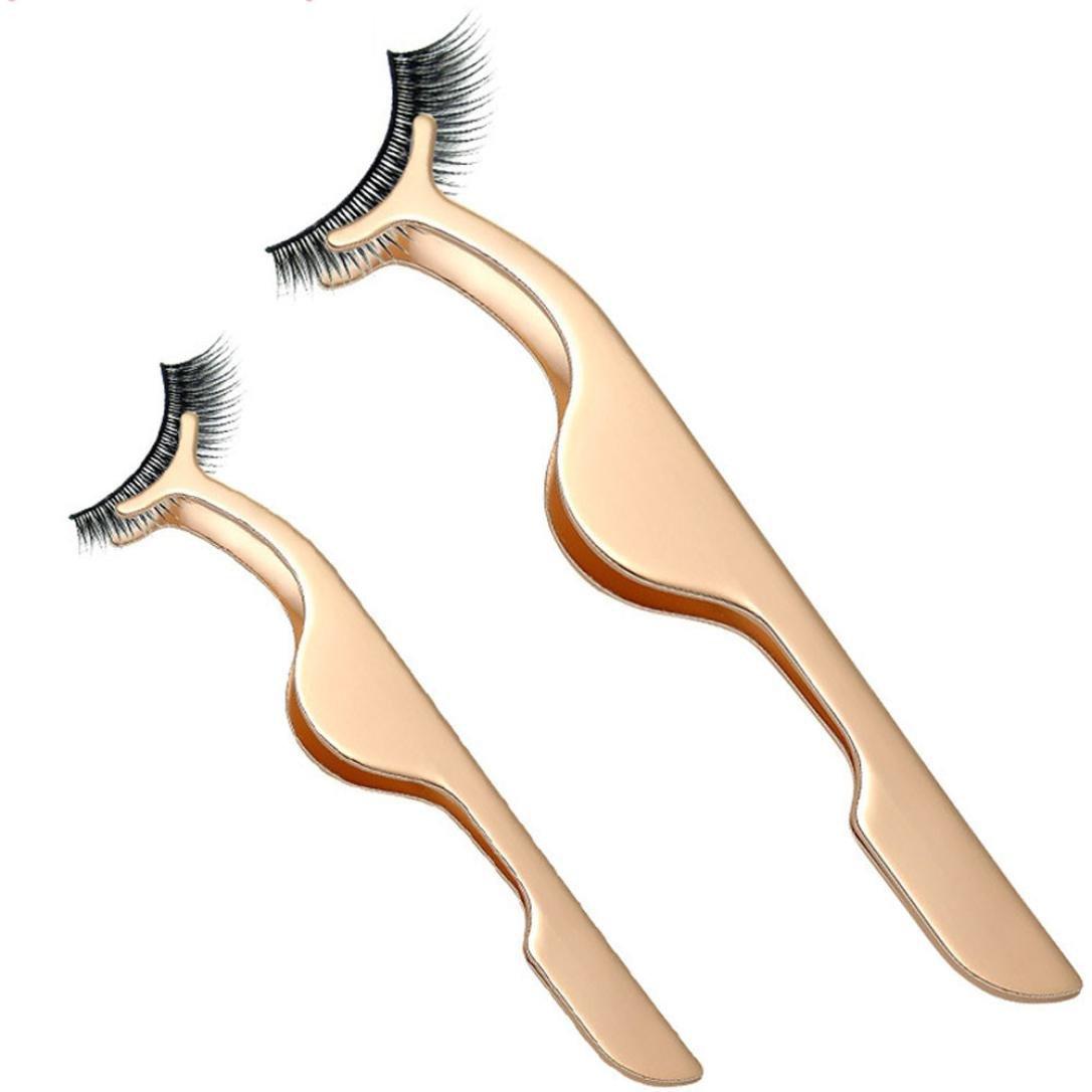 1Pc Eyelashes Clip Tool,Fenleo Simply Gorgeous False Eyelashes Extensions Applicator Remover Tweezer