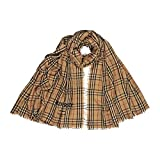 Burberry Embroidered Vintage Check Lightweight Cashmere Scarf