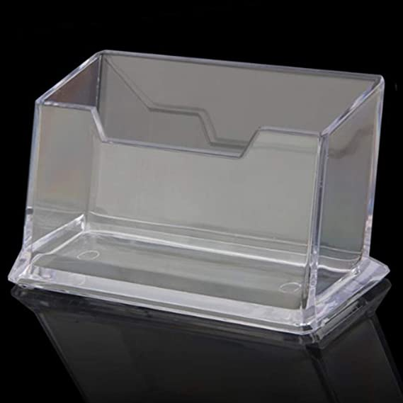 Newin Star Sostenedor del soporte de la caja Tarjeta de visita transparente 1 Nivel Tarjeta de visita Tarjeta de visita de acrílico caja de plástico para ...