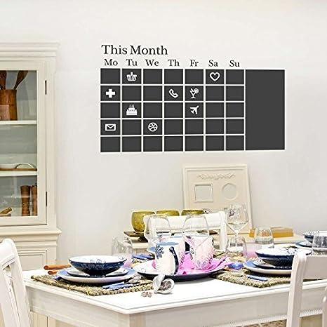WALPLUS Extraíble Adhesivo Pared Pegatinas Pizarra Calendario Mural Arte Vinilo Adhesivos decoración del hogar Papel Pintado habitación de los niños ...