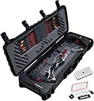 Case Club Waterproof Parallel Limb Compound Bow Pre-Cut Case with Silica Gel to Help Prevent Rust