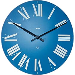 Alessi Firenze Wall Clock Aleesi 12 AZ, Light Blue