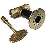 Midwest Hearth Fire Pit Gas Valve Kit - 1/2'' NPT (Antique Brass)