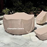Champion Patio Love Seat Cover Taupe