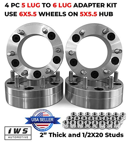 Bill Smith Auto Replacement for 4 Wheel Adapters 5x5.5 to 6x5.5 2