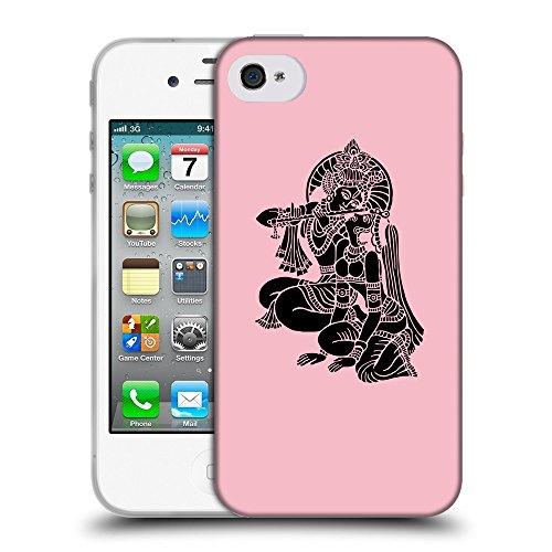 GoGoMobile Coque de Protection TPU Silicone Case pour // Q08140630 Hindou 5 Rose // Apple iPhone 4 4S 4G