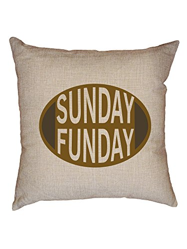 Nfl Novelty Pillow - Hollywood Thread Sunday Funday Football Graphic Decorative Linen Throw Cushion Pillow Case with Insert