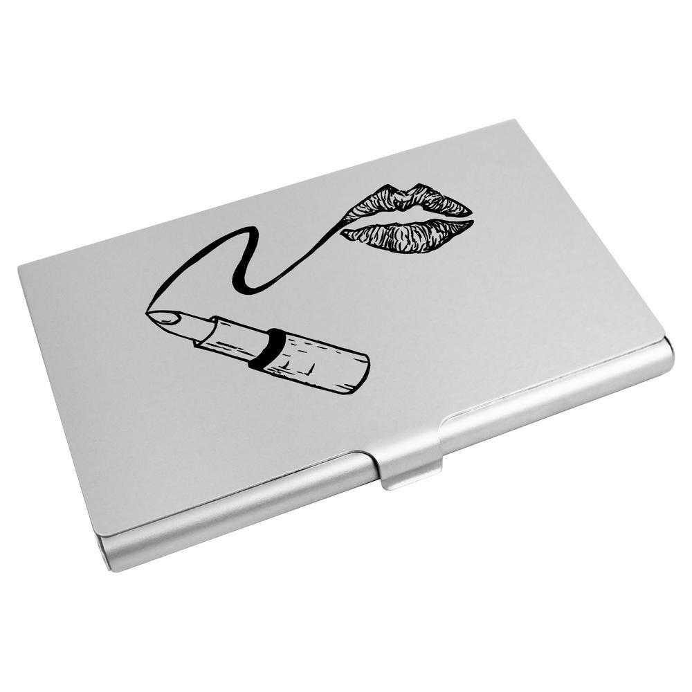 Azeeda 'Lipstick & Lips' Business Card Holder / Credit Card Wallet (CH00013899)