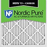 Nordic Pure 16x16x1M13+C-6 MERV 13 Plus Carbon AC Furnace Air Filters, Qty-6