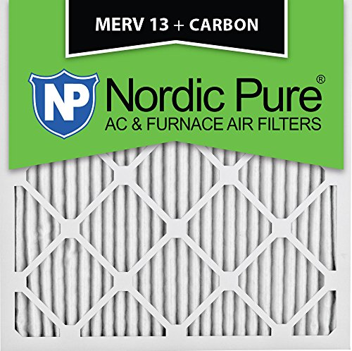 Nordic Pure 14x14x1M13+C-6 MERV 13 Plus Carbon AC Furnace Air Filters, Qty-6