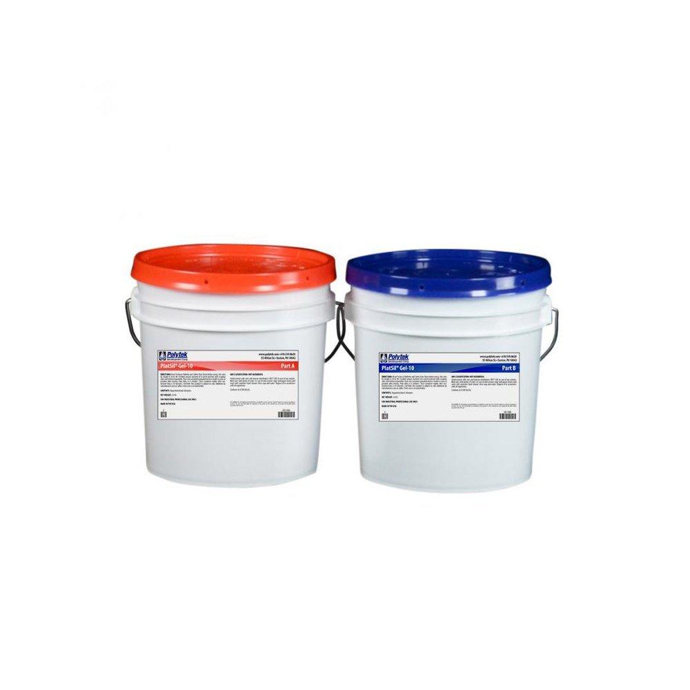 Polytek Platsil Gel-10 Platinum Silicone Rubber (16lb kit)