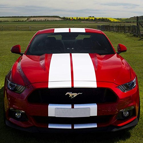 Mustang Gt Body Kits (Decal Sticker Vinyl Body Racing Stripe Kit Compatible with Ford Mustang GT 2015-16 RHD)