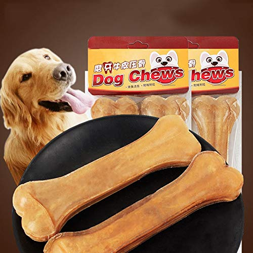 Dog Chew Toys Pet Supplies Chews Snack Food Treats Bones Dog Cowhide Bone Dog Chews Molar Rod for Puppy Small Medium Big Dogs