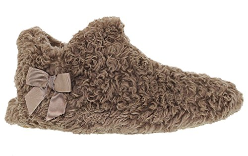Zapato De Piel Sintética De Felpa Para Mujer Perfecto Para Descansar Marrón