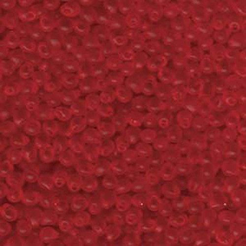 Fringe Beads Glass Matte - Red-orange Transparent Matte Miyuki 3.4mm Fringe Seed Bead Glass Tear Drops 25 Gram Tube Approx 650 Beads