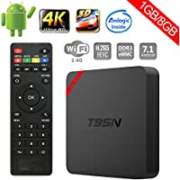 Greatlizard T95N Smart TV Box Android 7.1, 1GB RAM 8GB ROM HD 4K WiFi & LAN VP9 DLNA H.265