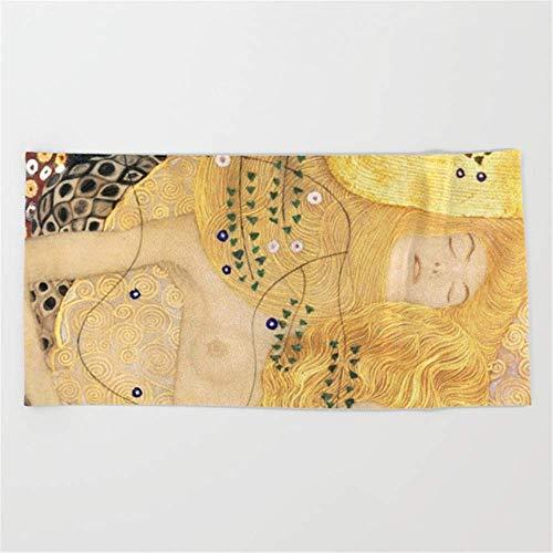 (mesielldp Water Serpents - Gustav Klimt Beach Towel 31.5