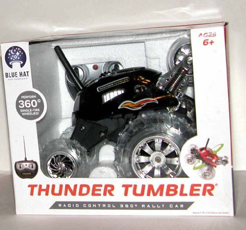 Blue Hat Toy Company Thunder Tumbler Rc Spinning Car 9 V Battery (Included) (Blue Hat Toy Company Thunder Tumbler Rc Car)