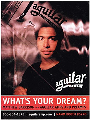 Preamps Aguilar - Aguilar Amps and Preamps - Matthew Garrison - 2001 Print Advertisement