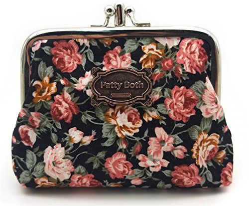 (Cute Classic Floral Exquisite Buckle Coin Purse-Patty Both (05))