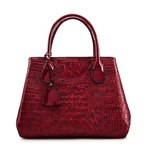 Burgundy Leather Female Messenger Crocodile Women Crossbody PU Fashion Handbagss Pattern Shoulder Bags Ladies Bags PwSUOY