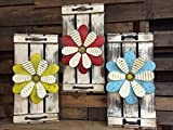 This Shutter Flower has a great rustic look and would be adorable in an entry way, porch, bedroom, living room, kitchen, ANY ROOM! It would also make a perfect house warming gift! It has accent metal handles and is available in a variety of c...