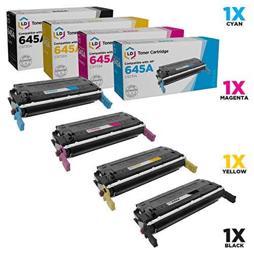 LD Remanufactured Toner Cartridge Replacement for HP 645A (Black, Cyan, Magenta, Yellow, 4-Pack) (Hp 5500dn Color Laser Printer)