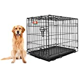 Animal Planet Collapsible Metal Pet Crate with Removable Tray, X-Large