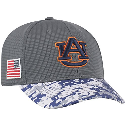 Top of the World NCAA Salute to USA Military -One-Fit Camo Hat Cap-Auburn Tigers