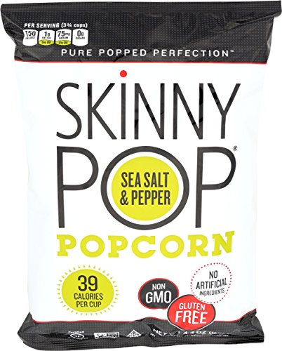 SkinnyPop Popcorn, Sea Salt & Pepper, 4.4 Ounce (Pack of 12)