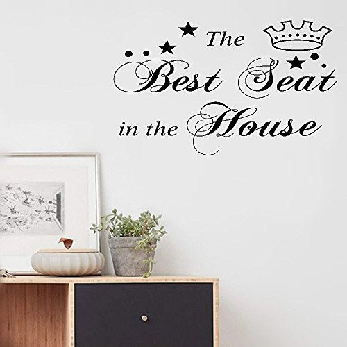 Cheap  iopmm wall art decor stickers The Best Seat In The House Vinyl..
