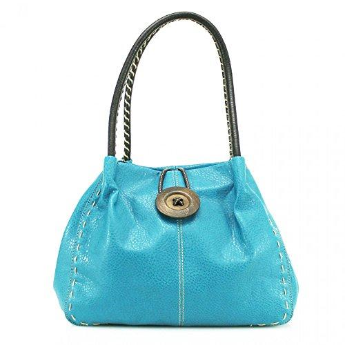 Damen Schultertasche blau hellblau Craze London Vhb3nixO9d