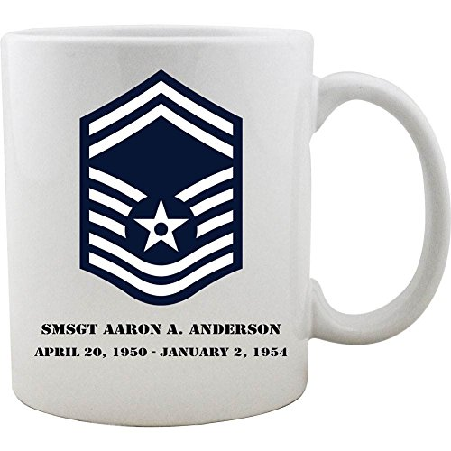 Sergeant Coffee Mug (Customizeable Air Force Senior Master Sergeant Rank Coffee Mug)