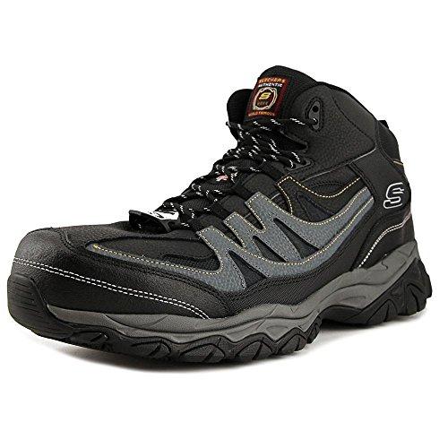 Skechers Work Men's Holdredge - Rebem Black Leather/Charcoal Trim 11 EE US EE - Wide (Working Steel Toe Shoes)