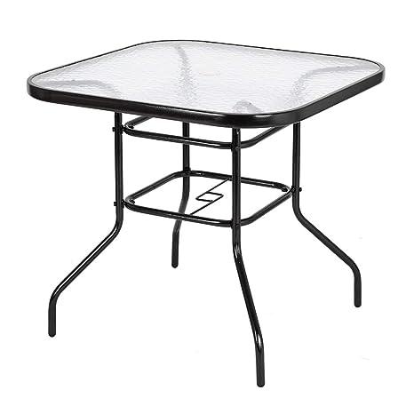 Amazon.com: VINGLI Mesa de comedor para exteriores, 32 ...