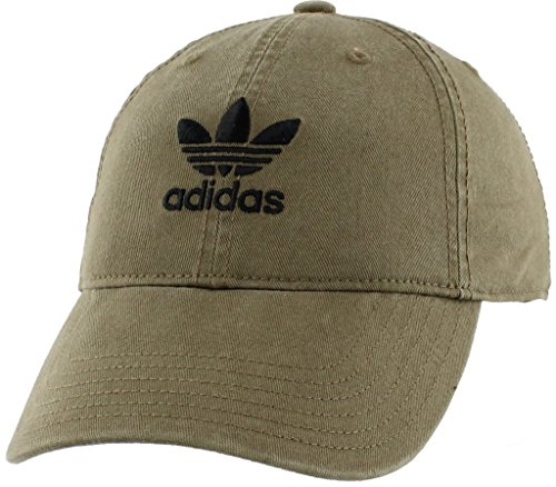 - adidas Women's Originals Relaxed Fit Strapback Cap, Olive Cargo/Black, One Size