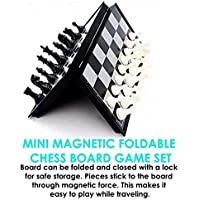 "WP Magnetic Chess Set | Small Portable Game for Travel with Magnet Pieces | Educational Game for Adults and Kids Plastic | 5.5"" x 5.5"" Folding Board"