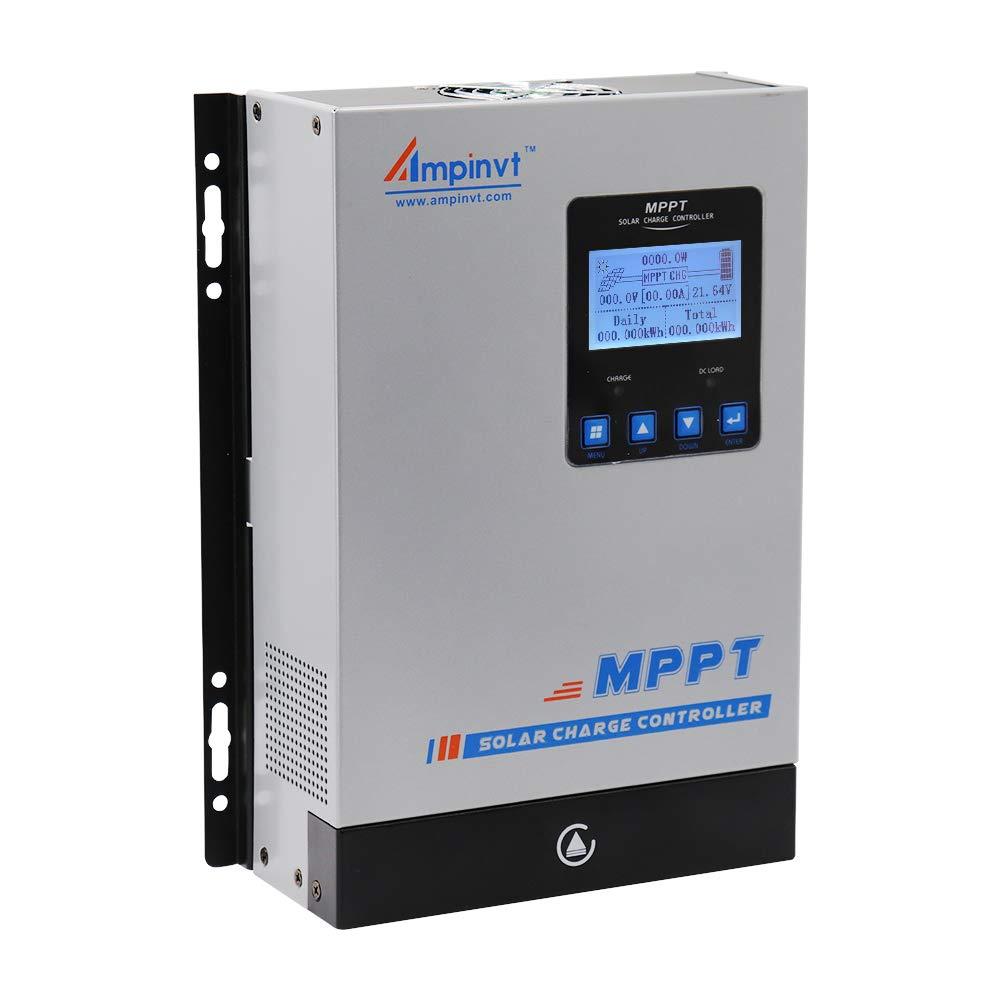 80A MPPT Solar regulador 12V 24V 36V 48V Automatically Identifying System Voltage Controladores MPPT para energía solar y eólica baterías de litio, selladas, de gel y de inundación
