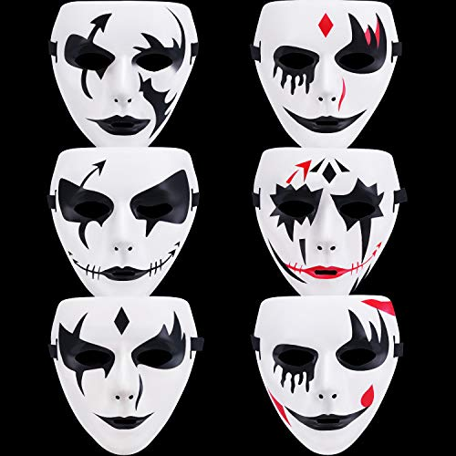 Pretty Masks For Halloween (6 Pieces Ghost Cosplay Mask 6 Types Costume Full Face Mask Halloween)