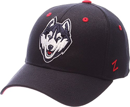 (Zephyr Uconn Huskies Official NCAA DH Size 7 1/2 Fitted Hat Cap by 084687)