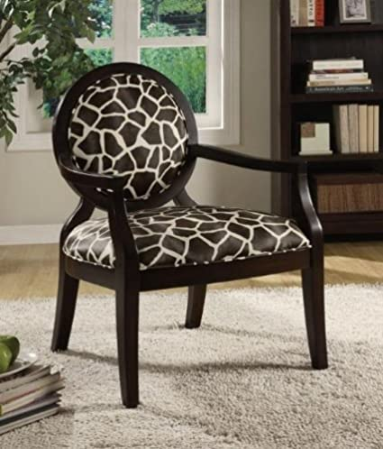 Astounding Amazon Com Accent Arm Chair With Louis Style Giraffe Print Gmtry Best Dining Table And Chair Ideas Images Gmtryco