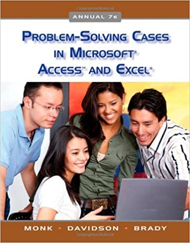 Book Problem Solving Cases in Microsoft Access and Excel by Ellen Monk (2009-04-17)