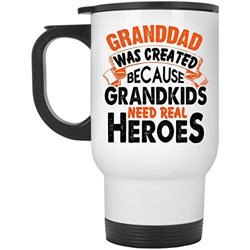 Because Grandkids Need Travel Mug, Granddad Was Created Mug (Travel Mug - (How Was Halloween Created)