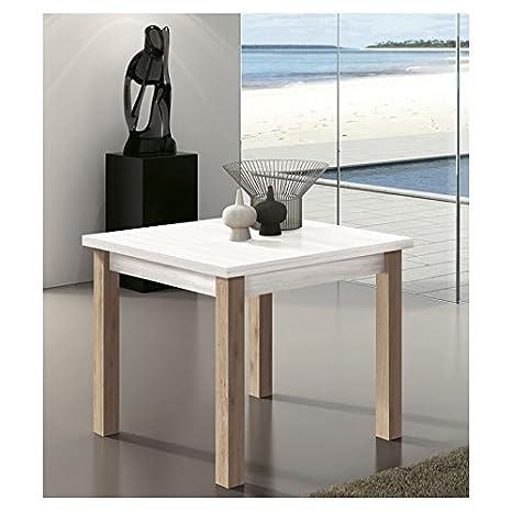 Amuebla Mesa DE Comedor Tipo Libro DE 90 X 90 CM. Extensible