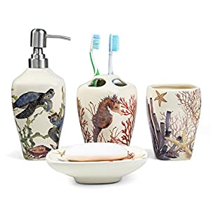 51GDOa32OaL._SS300_ 70+ Beach Bathroom Accessory Sets and Coastal Bathroom Accessories 2020