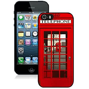 High Quality iPhone 5 5S Case ,Classic British Red Telephone Box iPhone 5 5S Cover Unique And Fashion Designed Phone Case