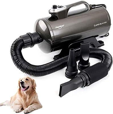 WAFOR 2200 Vatios para Perros Secador De Pelo para Mascotas con Temperatura Y Manguera Flexible De 3 M Negro: Amazon.es: Hogar