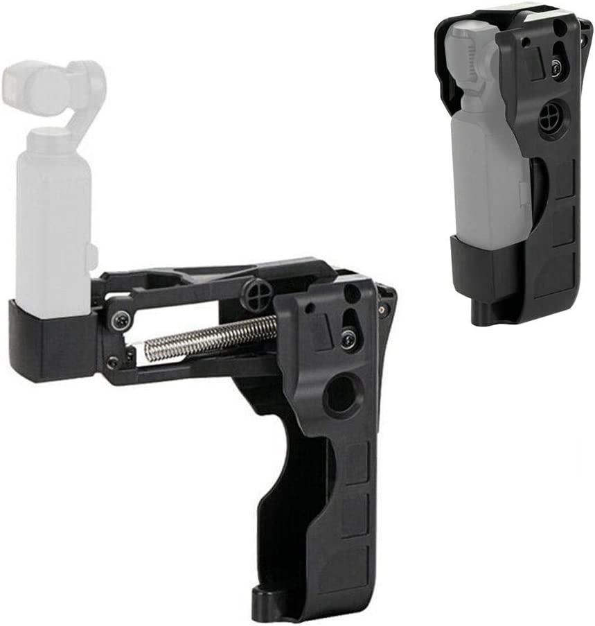 Serounder Foldable Aluminum Alloy Handheld 4 Axis Stabilizer Handle Grip Arm Bracket with Spring Shock Absorption for DJI OSMO Pocket